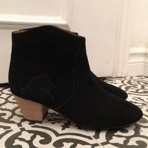 Isabel Marant Penny Black Suede Boots Size 40